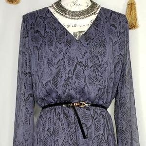 Jessica Simpson snake print ruffle dress